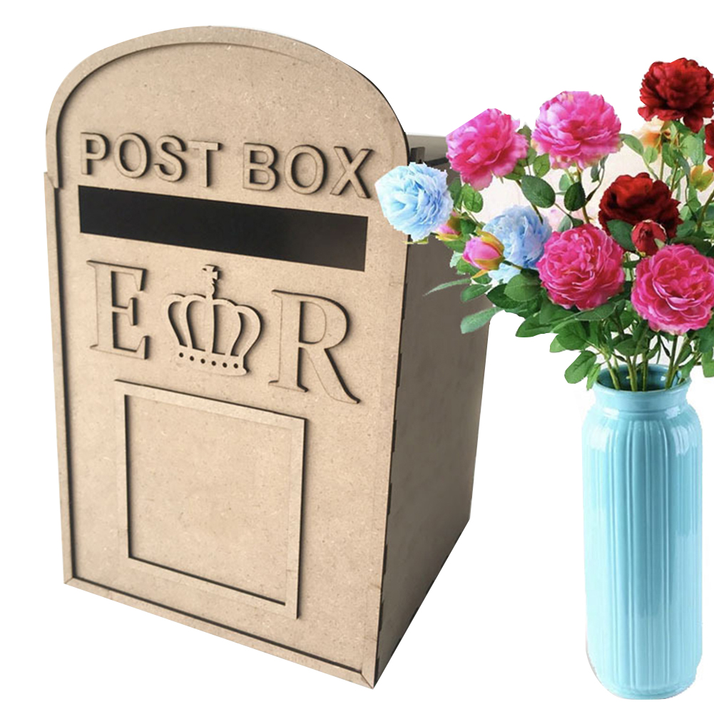 Decoration Anniversary Gift DIY Envelopes With Lock Square Wedding Supplies Money Case Party Card Box Keys Storage Wooden