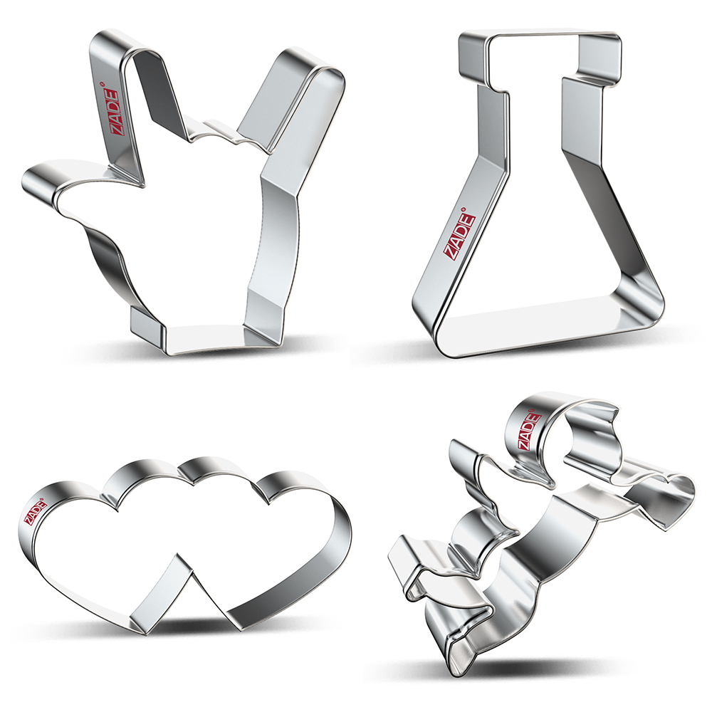 ZADE Cupid Wedding Cookie Cutters Biscuits Treats Biscuit And Fondant Cutter - Stainless Steel