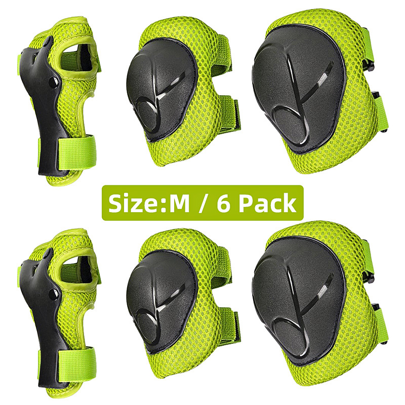 6PC Safety Brace Kids Knee Protector Child Cycling Roller Skating Skateboard Balance Car Elbow Pads Wrist Guard Protection Pad