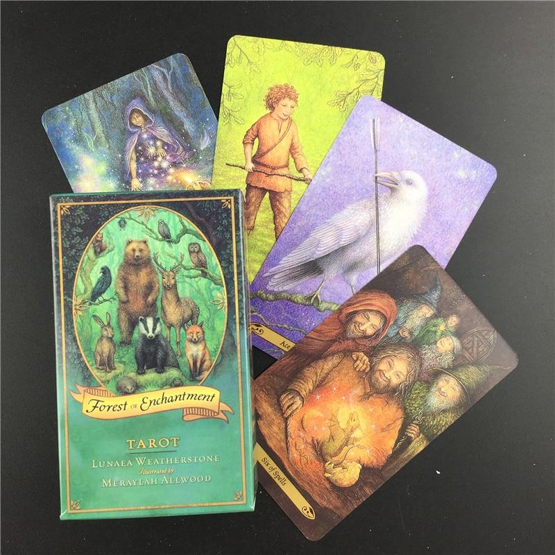 Карточные игры с изображением леса очагов Таро с электронным руководством доска гадания чтение любовь Луна рядом со мной начинающие