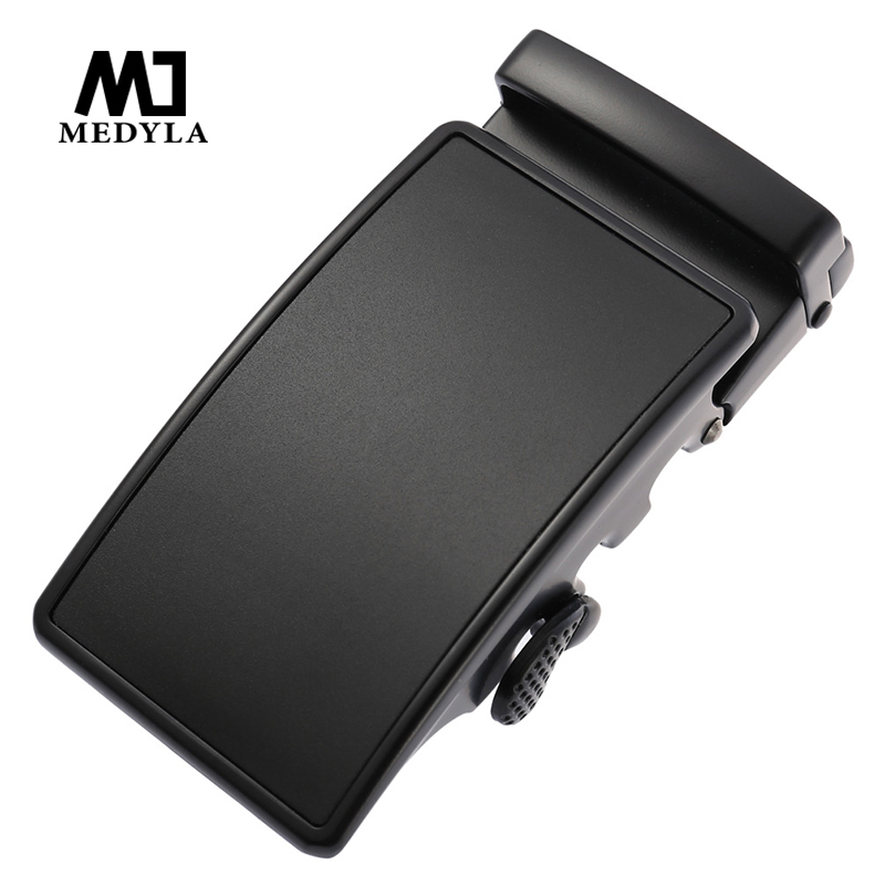 MEDYLA Matte Black Buckle Belt Hard Metal Black Gold Automatic Buckle Large Size Men's Business Belt Buckle Inner Diameter 3.6cm