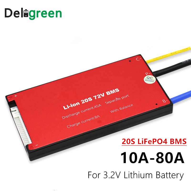 72V 20S 30A Lithium 18650 Battery Protection Board BMS PCB Ebike Scooter