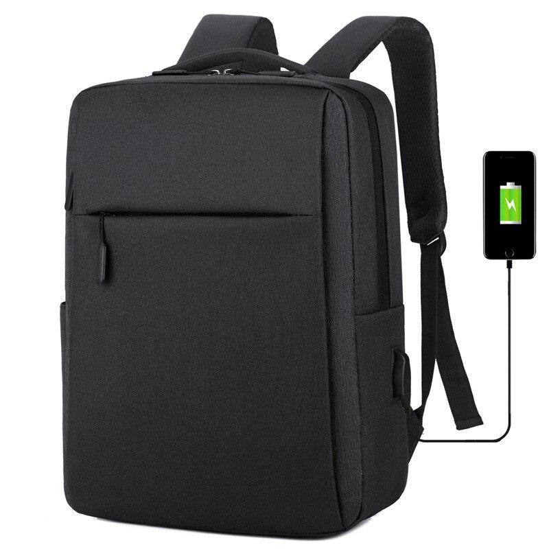 Bolsa para laptop de 17 polegadas portátil anti-roubo bolsa escolar mochila masculina de viagem casual com carregamento USB 8