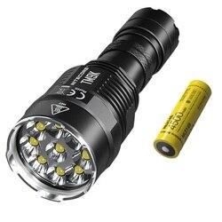 Linterna LED de alta potencia NITECORE TM9K CREE XP-L HD V6 9500 LM linterna táctica recargable por batería 21700 para buscar