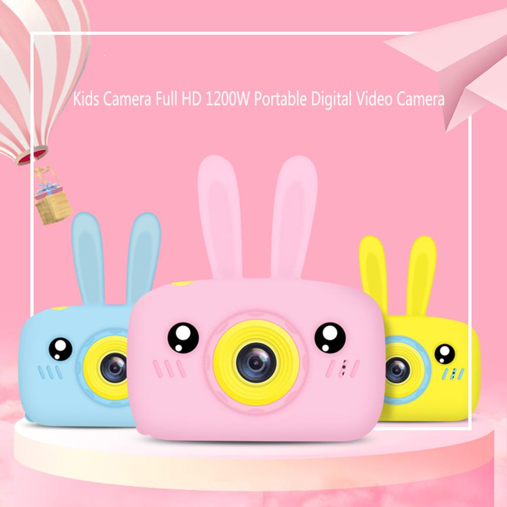 Full HD 1080P Portable Cute Cartoon Digital Video Kids Camera 12MP 2'' LCD Screen Display Children For Chirdren Learning Study image