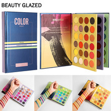 Beleza vitrificada livro cor tons 72 cores pressionado pó sombra paleta maquiagem brilho fosco neon sombra pallete