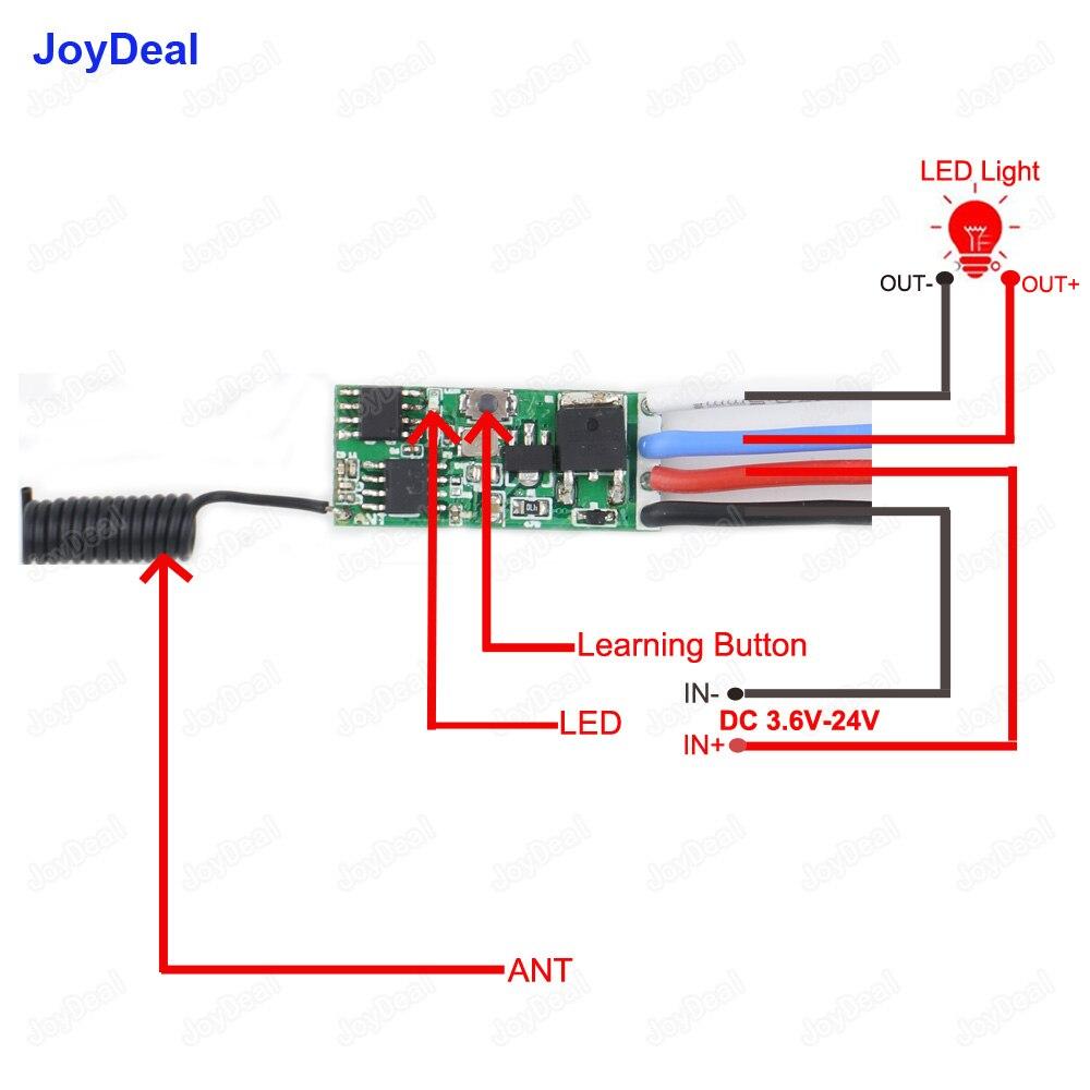 DC 3.7V 6V 12V 24V 1A Mini Wireless Remote Control Switch ON Off Kit...