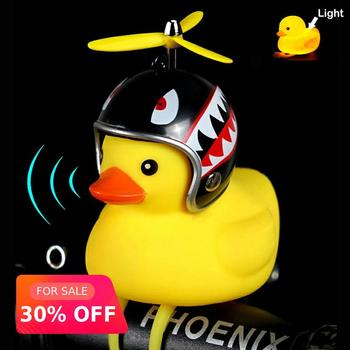 Bicycle Light Bike Horn Bell Duck Front Lights Tail Handlebar Head Lamp Cute Flash Kids Child Air Cycling Rubber Warning Siren bicycle bike handlebar ball air horn trumpet ring bell loudspeaker noise maker free shipping