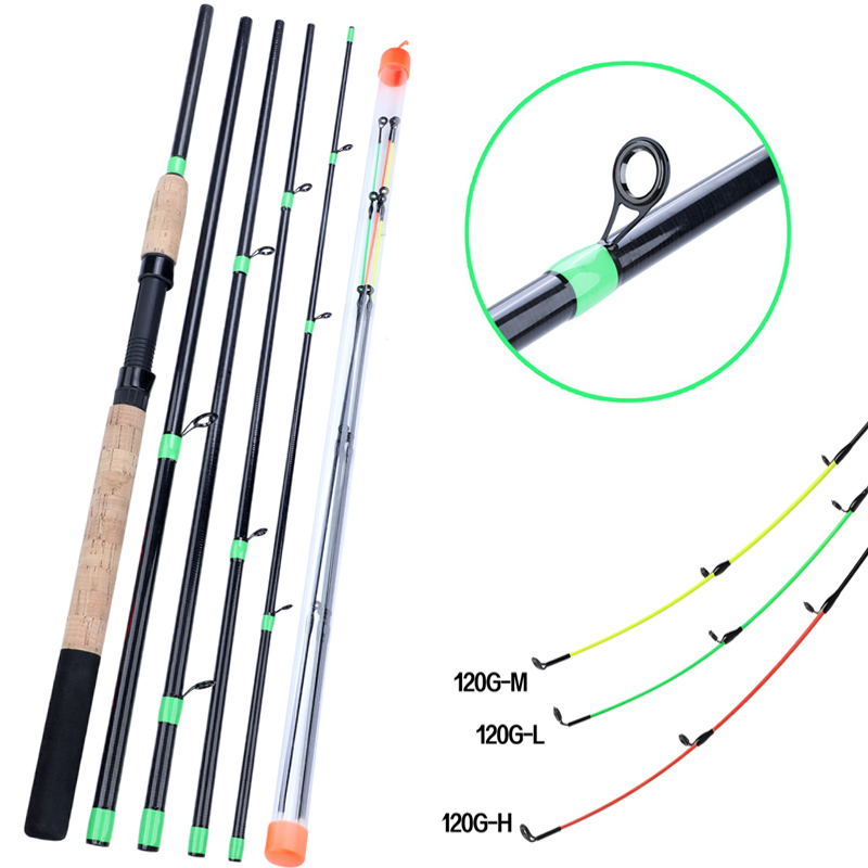 Sougayilang 3m Feeder L M H Power Spinning Fishing Rod 6 Section Carbon Fiber Portable Travel Rod Handle Rod Carp Fishing Tackle