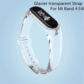 For Xiaomi Mi Band 6 5 4 Strap Transparent Silicone Wrist Straps for Xiomi Miband 3 Xiami Amazfit band 5 For Mi Sport Bracelet 5 1