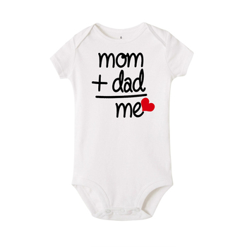 NEW Newborn Baby Boy Girl Bodysuit Outfit Costume mom dad me letter bodysuits boys Clothes