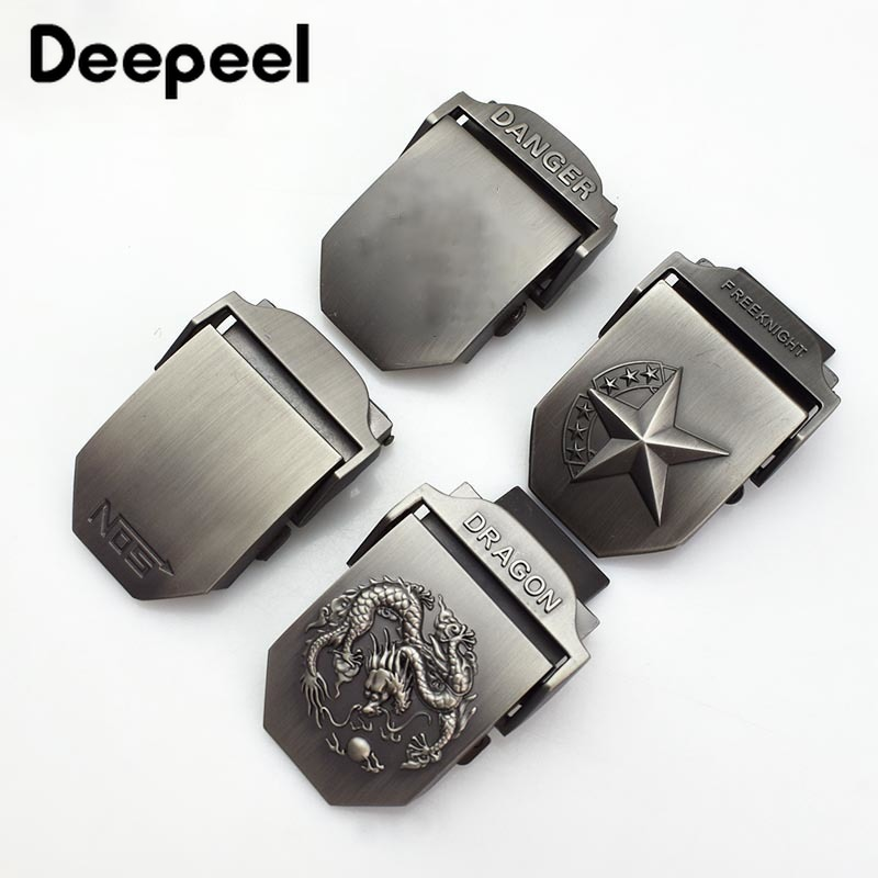 Deepeel 1/3pcs Metal 3.8cm Width Men's Tactical Belt Buckle Alloy Material For Canvas Belt Jean DIY Clothing Accessories AP2765