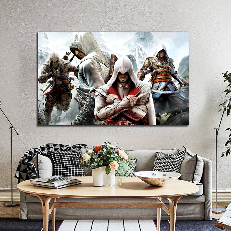 Assassins Creed Poster Wall Art Anime Painting Canvas Pictures For