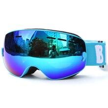 ילדי סקי משקפי UV400 אנטי ערפל כפול שכבות סקי מסכת משקפיים סנובורד החלקה Windproof משקפי שמש סקי משקפי
