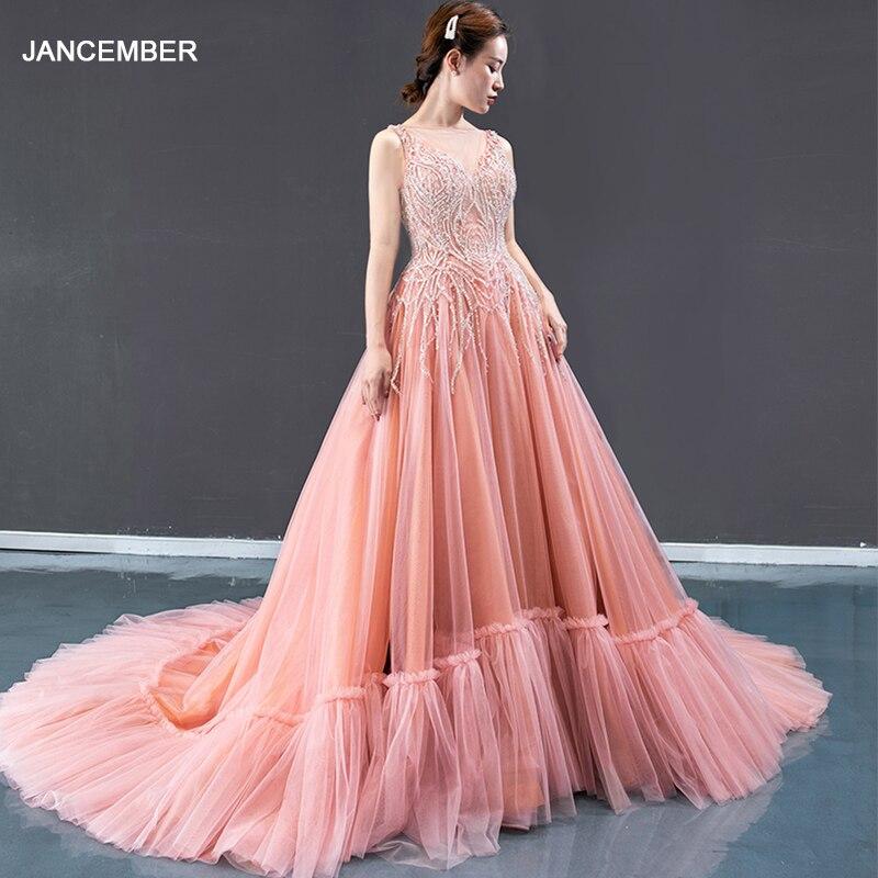 J66961 Jancember Formal Dress For Teenagers O Neck Spaghetti Sleeveless Evening Dress Plus Size вечернее платье ддя подростков