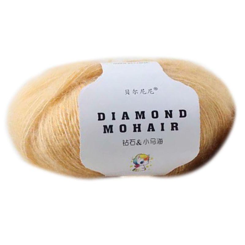 25g Mohair Hand Knitting Yarn Faux Wool Warm Crochet Thread DIY Craft For Scarf LX9E