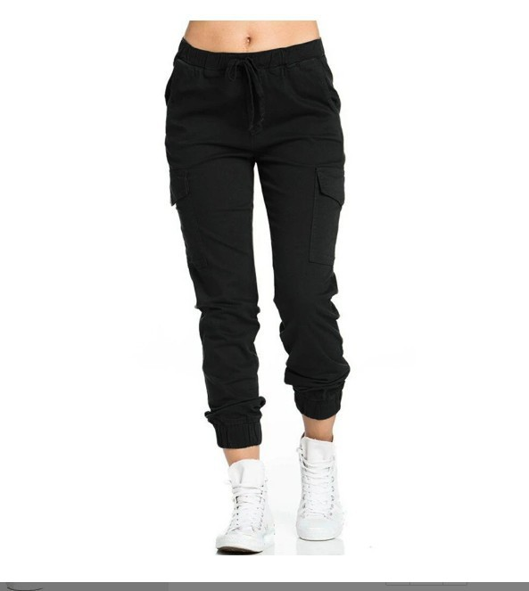 Solid Cargo Pants 1