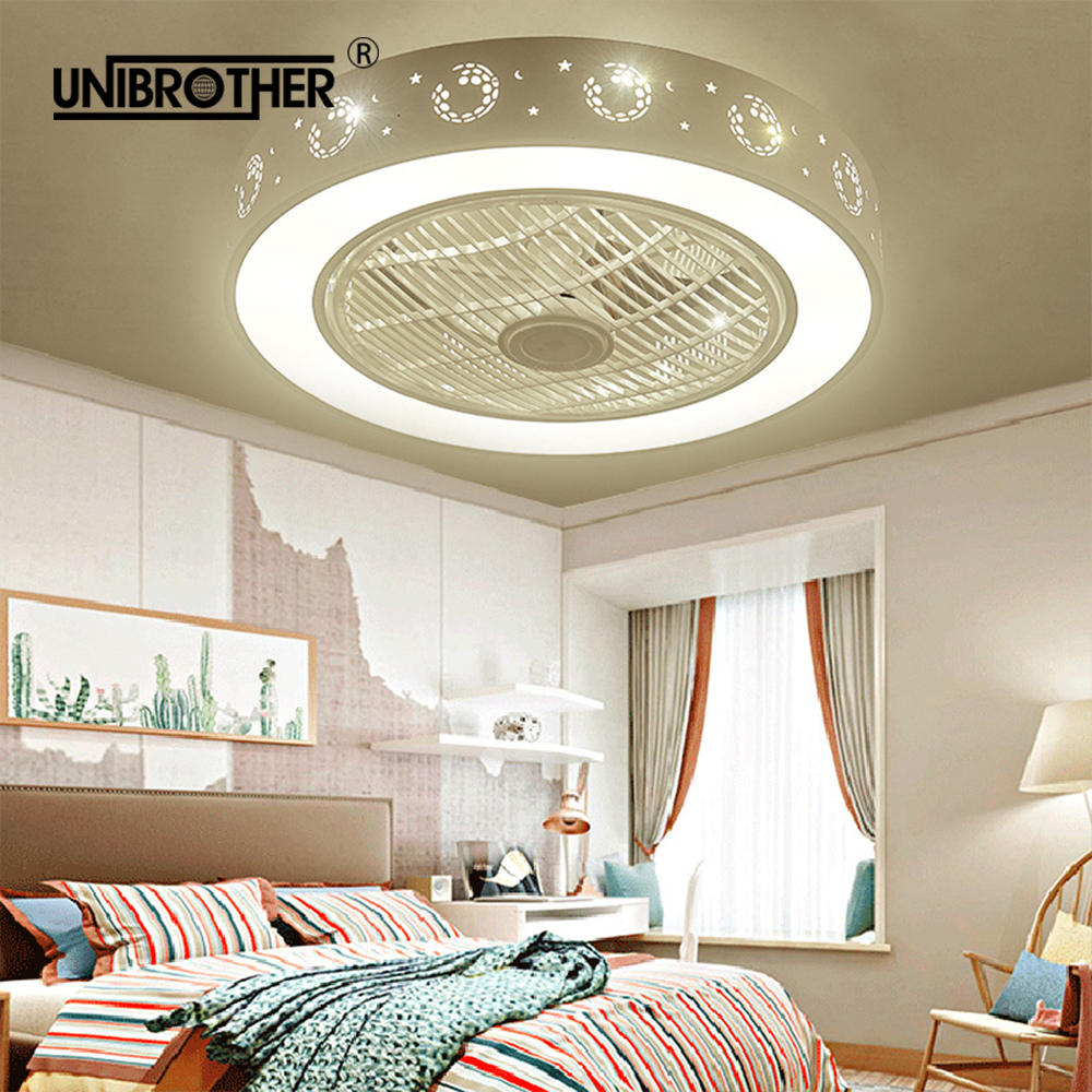 Genteel 55cm Led Ceiling Fan Lamp Fans With Light Bedroom Lamps Football Children Room Home Restaurant 40w Three Color Changing