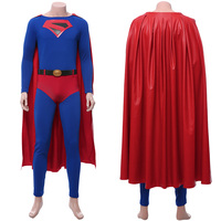 Crisis on Infinite Earths Clark Kent Superman Cosplay Adult Men Women Jumpsuit Cloak Uniform Halloween Carnival Costumes