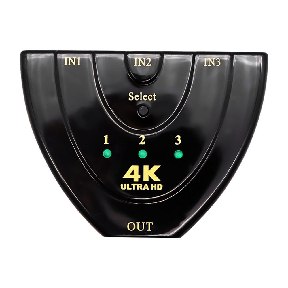 Мини 3 порта 4K x 2K 1080P HDMI коммутатор квадратный видео сплиттер конвертер Поддержка порт 3D низкое энергопотребление и энергосбережение