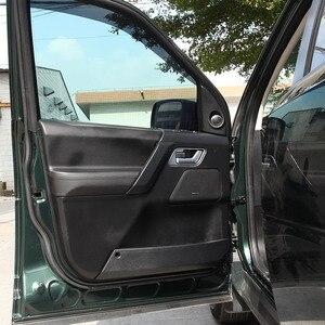 Image 4 - Für Land Rover Range Rover Sport L320 2005 2008 ABS Chrom/Schwarz Auto Innen Innen Tür Griff Rahmen aufkleber Auto Zubehör