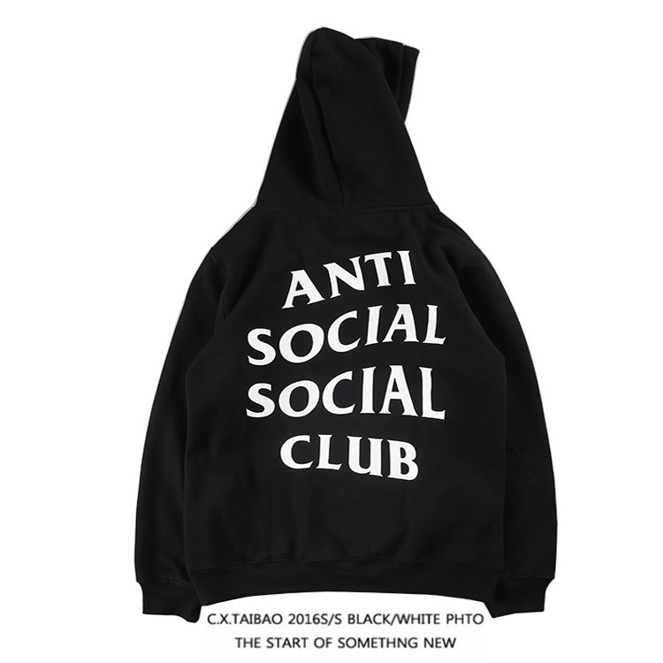 2016 Europe And America Origional Socl Simple Solid Color English Lettered Fashion Men And Women COUPLE'S Hoodie Coat