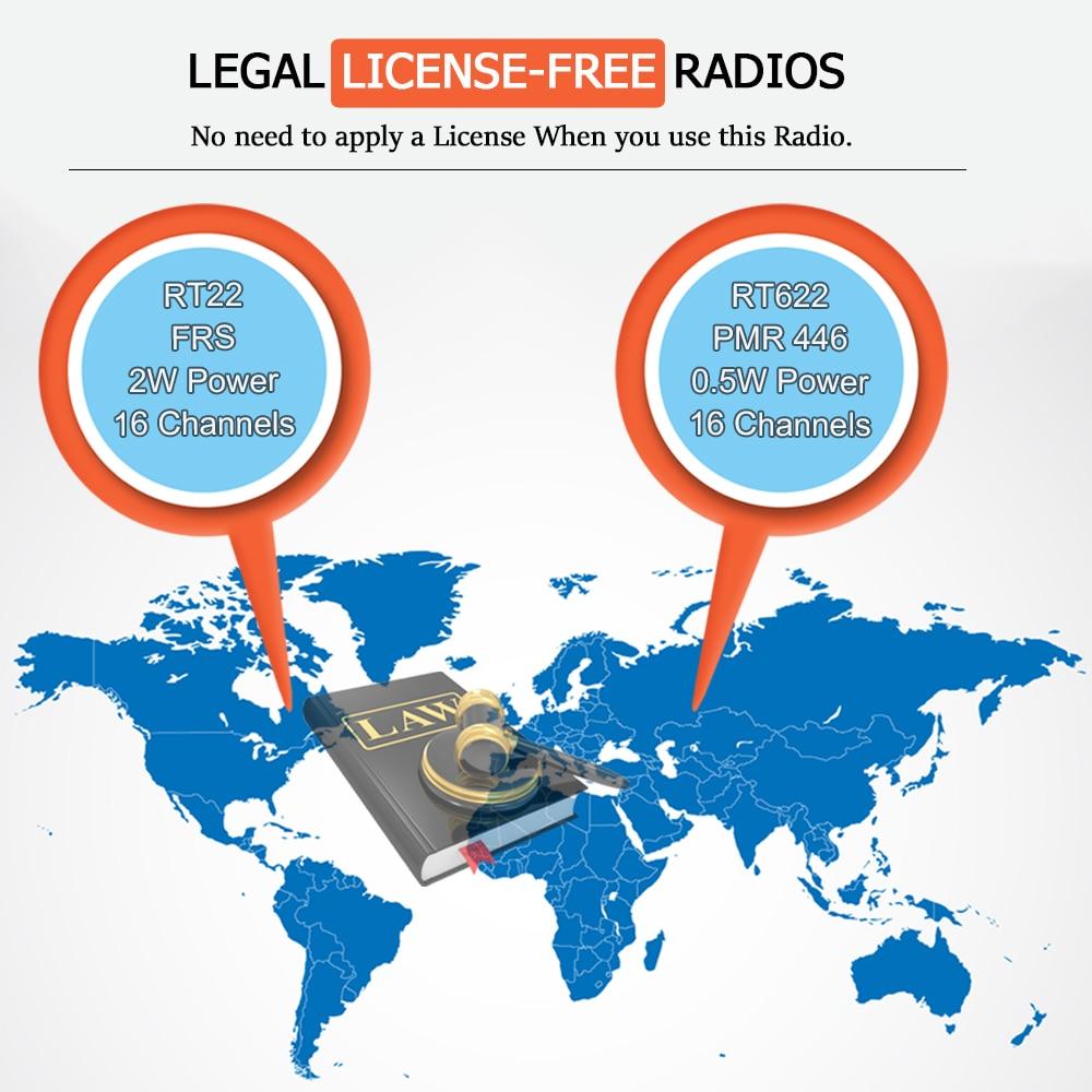 Retevis RT622 RT22 Mini Walkie Talkie 2pcs PMR Radio PMR446 FRS UHF Two-way Radio Portable VOX USB Charging Handheld Transceiver