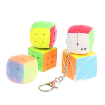Mini 3rd Order brelok magiczna kostka prędkość kostka łamigłówka edukacyjna zabawka dla dzieci dzieci tanie i dobre opinie KittenBaby CN (pochodzenie) 4-6y 7-12y Z tworzywa sztucznego