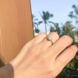 18K Gold Filled Moissanite Diamond 1 Ct Engagement Ring Classic Round Women's Wedding Gift