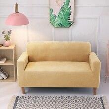 Capa de sofá de pelúcia, capa de sofá grossa com tudo incluído para sala de estar, capa de sofá macia, capa de 1/2/3/4 lugares