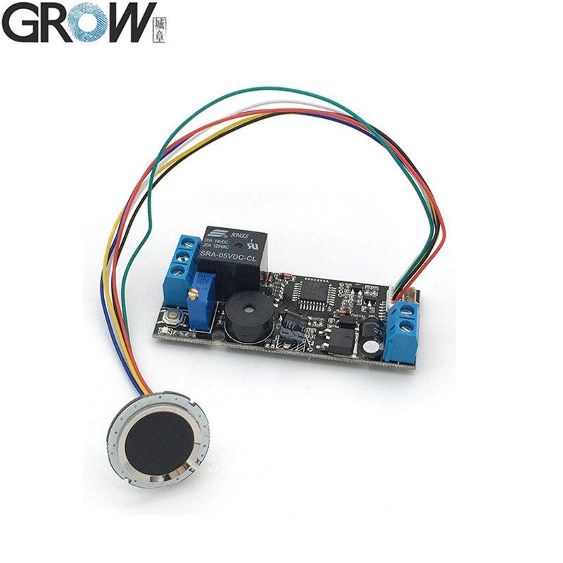 GROW K202+R502 DC12V Low Power Consumption Fingerprint Recognition Access Control System+R502 Capacitive Fingerprint Sensor