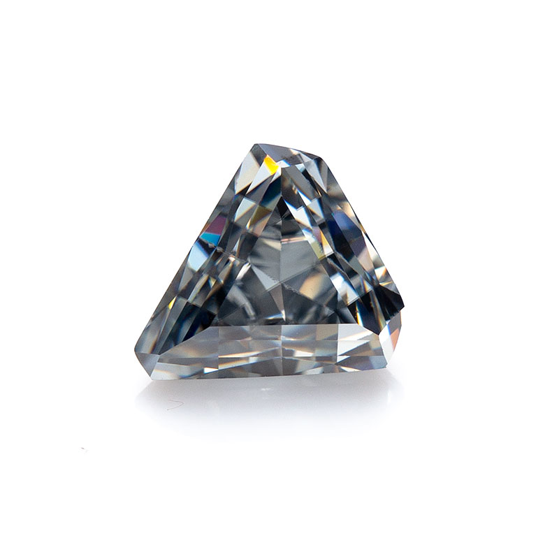 Triangle cut 6.5*6.5mm Gray Moissanite Loose Gemstone Lab Created Synthetic for jewelry maket