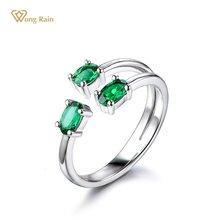 Женское Винтажное кольцо из серебра 100% пробы с изумрудом