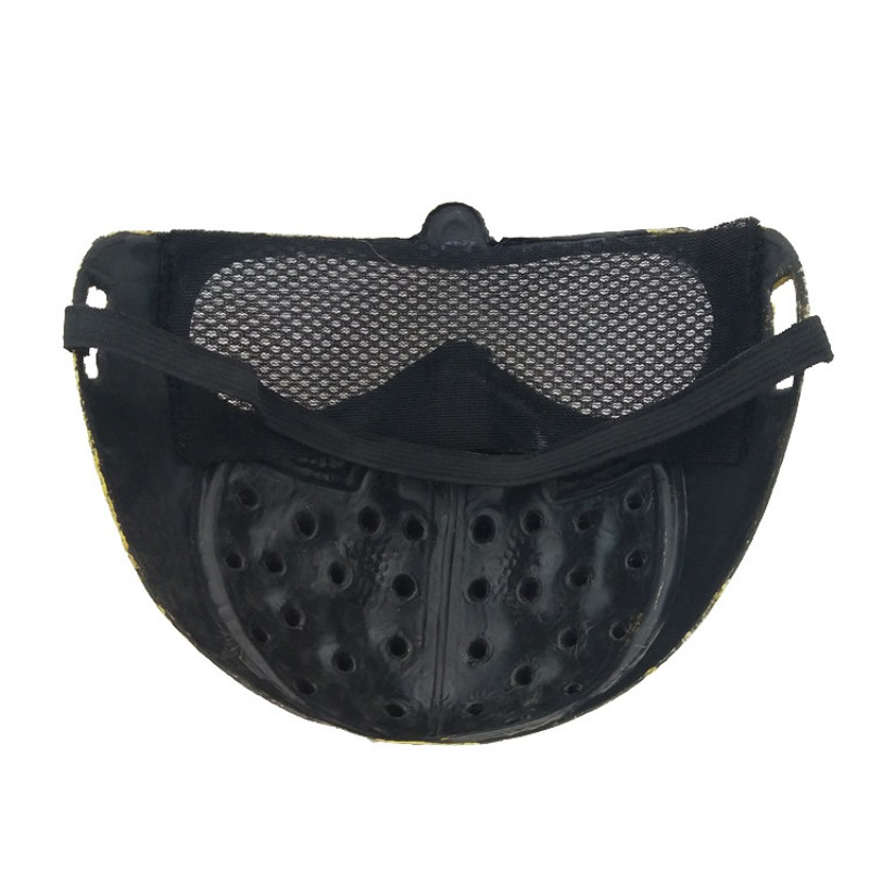 Halloween Mysterious Stage Masks With Rivets Cool Street Style For Man Black Gold Party Face Plastic Mask Accessories 3