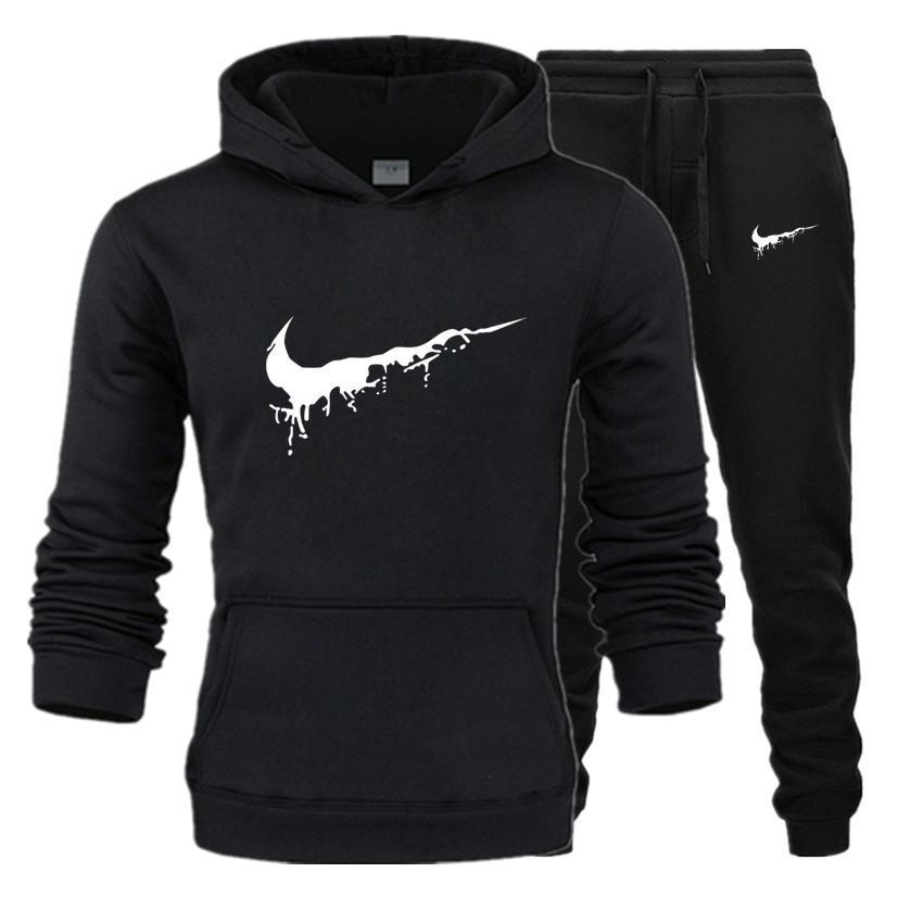 New Sport Suit Print Hoodie Hooded Men Casual Cotton Fall / Winter Warm Sweatshirts Men's Casual Tracksuit Costume
