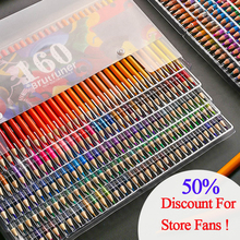 цена на Sketching Painting Oil Pencil Artist Professional Color Pencils Set 48/160 Colors For Kids Students Drawing School Art Supplies