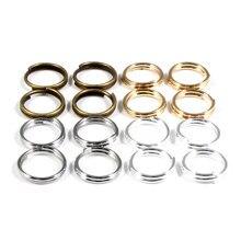 Anéis de metal com 500 peças 4/5/6/8/10mm, achados de joias de metal, anéis de pular com alças duplas abertas & dividir anel para fazer jóias acessórios feitos à mão