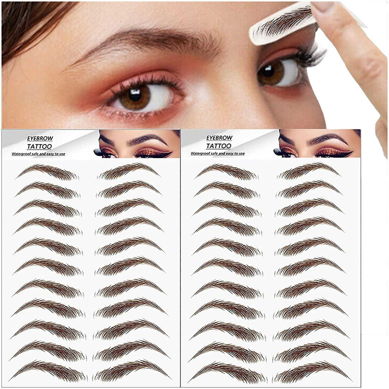 6D Bionic Tattoo Semi-Permanent Eyebrow Sticker Water Transfer Waterproof Embroidery Eyebrow Tattoo Sticker Makeup Supplies