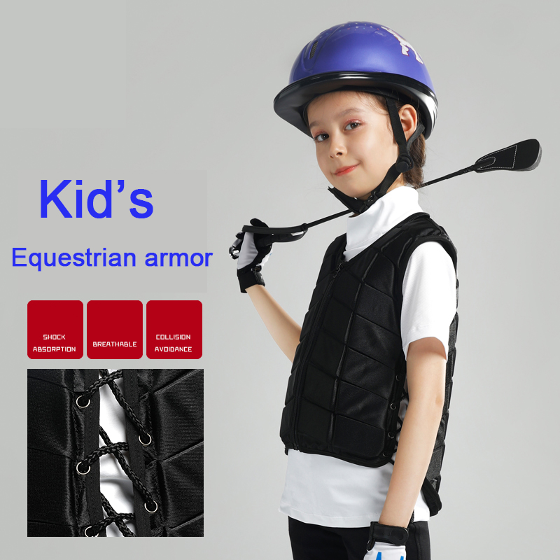 Kids Outdoor Safety Horse Riding Equestrian Vest Flexible Body Protective Gear Horse Equipment Breathable