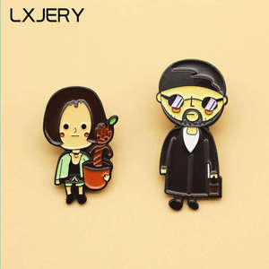 LXJERY Enamel Leon killer Pin Badge On Backpack Cartoon Cute Brooch Pins For Clothes Broche For Women Girls