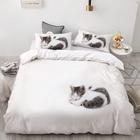 Pet Lazy Cat on Whit...