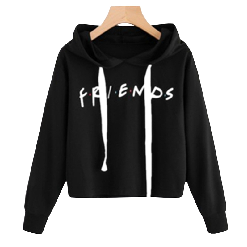 2018 New Friends Printing Hoodies Sweatshirts Harajuku Crew Neck Sweats Women Clothing Feminina Loose Women's Clothing Fall