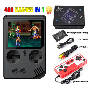400 IN 1 Game Player Mini Handheld Portable Retro Console 8 Bit Built-in Gameboy 3.0 Inch Color LCD Screen Game Box