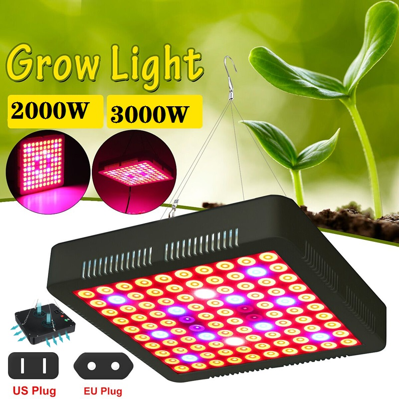 New 3000/2000W Full Spectrum LED Plant Grow Light Lamps IP65 For Flower Plant Veg Hydroponics System Growing Lamp US/EU Plug