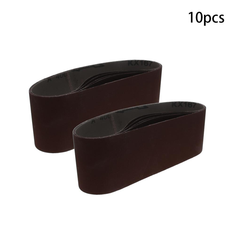 Utoolmart New 533*75 Size Sanding Belt 400/600 Grit Alumina Grinding Abrasive Belt High Quality 5pcs/10pcs/15pcs