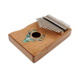 Image 5 - 6 стилей, инструменты для начинающих, 17 клавиш, узор для большого пальца, фортепиано, корпус из красного дерева, музыкальный инструмент, 17 клавиш, клавиатура Kalimba, музыкальный инструмент