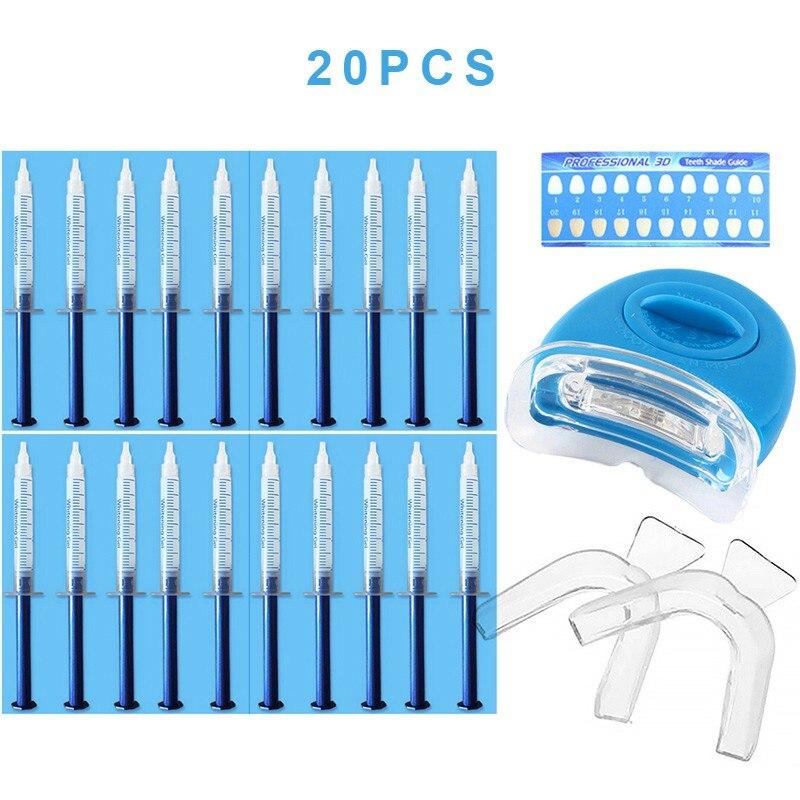 Kit de clareamento dos dentes branqueamento de dentes tiras de gel protetor boca contraste cartão conjunto dental dessensibilização gel cuidados acessórios