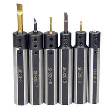 Круглый хвостовик маленькая диафрагма отверстие токарный инструмент держатель SHB20 SHB16 shb1фрезерный плоский токарный станок сверление отверстия держатель инструмента сплав куртка