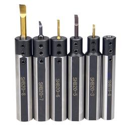 Okrągły shank mały otwór otwór uchwyt na narzędzia tokarskie SHB20 SHB16 SHB1milling płaskie tokarka otwór nudne uchwyt na narzędzia ze stopu kurtka w Uchwyty na narzędzia od Narzędzia na