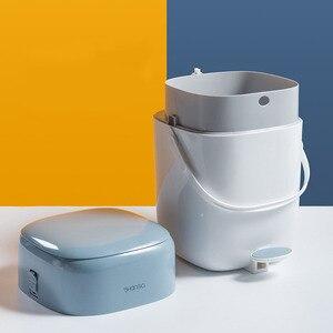 Педаль для кухни мусорное ведро Двойной Слой Ванная комната Туалет мусорное ведро с крышкой мусорное ведро органайзер для хранения мусора домашние аксессуары